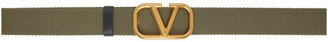 Valentino Green Garavani VLogo Tape Belt