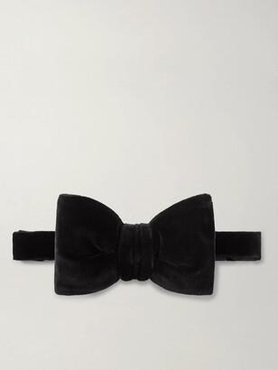 Tom Ford Pre-Tied Cotton-Velvet Bow Tie