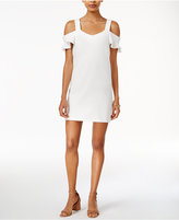 Bar III Cold-Shoulder Shift Dress, Created for Macy's