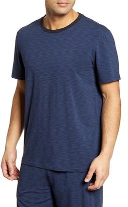 Daniel Buchler Space Dye Stretch Cotton & Modal Crewneck T-Shirt