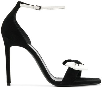 Saint Laurent Bow Front Ankle Strap Sandals