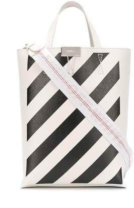 Off-White Diagonal Stripes Tote