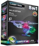 Laser Pegs 8 in 1 Helicopter Lighted Construction Toy