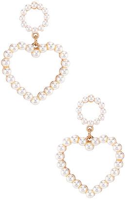 Ettika Heart Pearl Earring