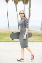Shabby Apple Huntington Fitted Sheath Striped Dress