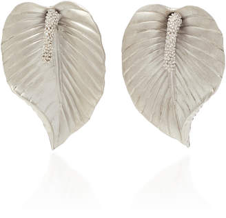 Luisa Schroder Peace Lily Sterling Silver Earrings
