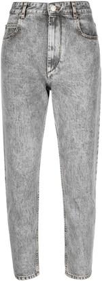 Etoile Isabel Marant Acid-Wash Cropped Jeans