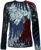 Romance Was Born feather applique top - women - Silk/Polyester - 6