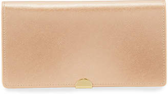 Neiman Marcus Saffiano Bifold Wallet with Zip Pouch