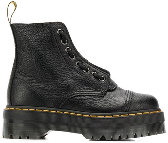 Dr. Martens Pebbled Leather Platform Boots