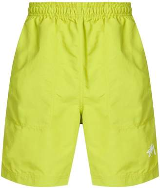 Stussy contrast band swim shorts