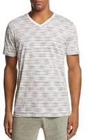 Daniel Buchler Missoni Stripe V-Neck Short Sleeve Tee