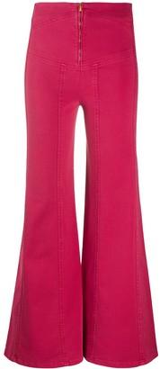 Alberta Ferretti Flared High-Rise Jeans