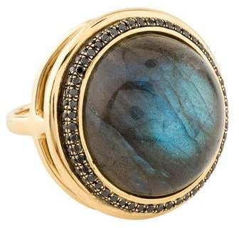 Black Diamond Syna Labradorite & Ring