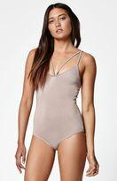 La Hearts Strappy Front Bodysuit