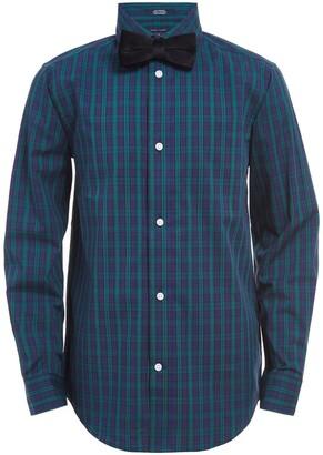 Tommy Hilfiger Mini Tartan Shirt & Bow Tie
