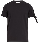 Jw Anderson Knotted-sleeve Cotton-jersey T-shirt