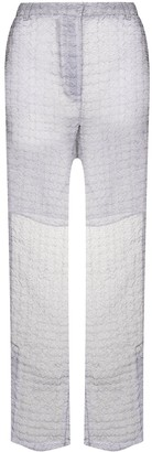 Cecilie Bahnsen Elisabeth sheer flared trousers