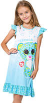 Intimo Beanie Boo Leona Flutter-Sleeve Nightgown - Girls