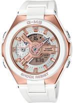 G-Shock Women's Analog-Digital G-ms White Resin Strap Watch 41mm