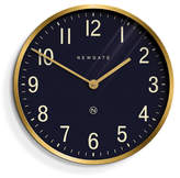 Newgate Mr Edwards Wall Clock Radial Brass - Petrol Blue