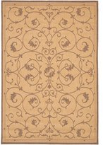 Couristan Recife Veranda Indoor/Outdoor Area Rug - Natural/Cocoa by