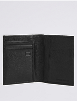 M&S Collection Leather Slim Bi Fold Card Wallet with CardsafeTM