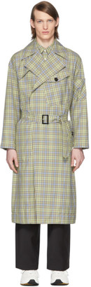 Tibi SSENSE Exclusive Green and Beige Recycled Trench Coat