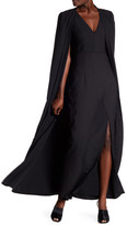 Lumier Long Cape & V-Neck Dress