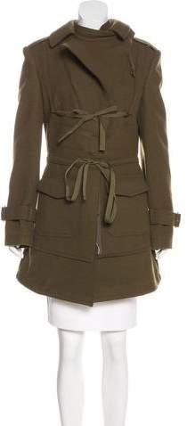 Alexander McQueen Wool Knee-Length Coat