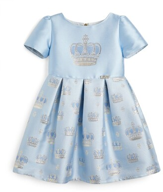 Lesy Crown Print Dress (3-14 Years)