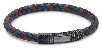 Tateossian Crystal & Multi-Colored Leather Bracelet