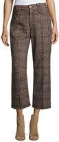Marc Jacobs Plaid Tweed Cropped Pants