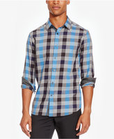 Kenneth Cole Reaction Men's Large-Check Flannel Shirt