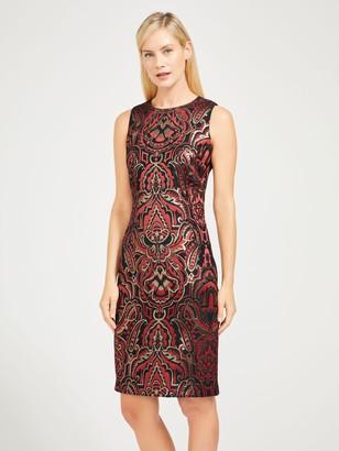 J.Mclaughlin Belinda Dress in Westlake Paisley Jacquard