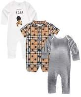 Burberry Baby's Set of Three Thomas Cotton Bodysuit