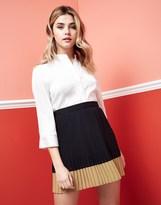 Vila Pleated Mini Skirt
