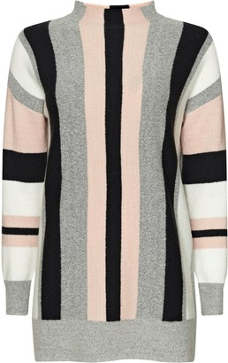 Wallis Grey Vertical Stripe Jumper