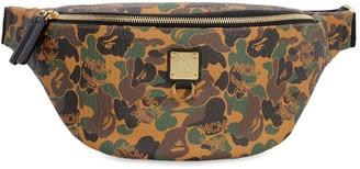 MCM X Bape Canvas Belt Bag