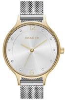Skagen Women's 'Anita' Crystal Index Mesh Strap Watch, 30Mm