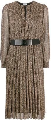 Liu Jo Abstract-Print Belted Dress