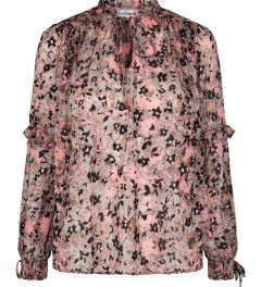 Co' Couture - Gemma Frill Blouse - XS (8)   polyester   pink   Grey / Zinc - Pink/Pink