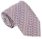 Missoni U5281 Purple/gray Basketweave 100% Silk Tie.