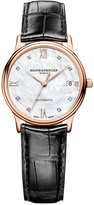 Baume & Mercier Women's Swiss Automatic Classima Diamond Accent Black Alligator Leather Strap Watch 33mm M0A10077