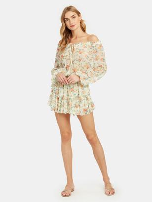LoveShackFancy Popover Long Sleeve Mini Dress