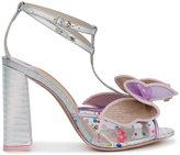 Sophia Webster butterfly appliqué sandals - women - Leather/Plexiglass - 35