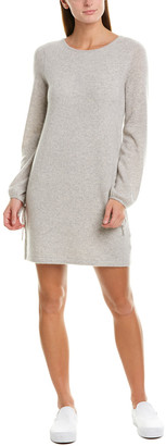 White + Warren Tie-Sleeve Cashmere-Blend Sweaterdress