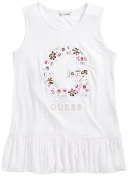 GUESS Big Girls Embellished Floral Logo Top