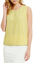 Calvin Klein Double Layer Chiffon Pleated Top