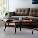 west elm Reeve Mid-Century Oval Coffee Table - Pecan